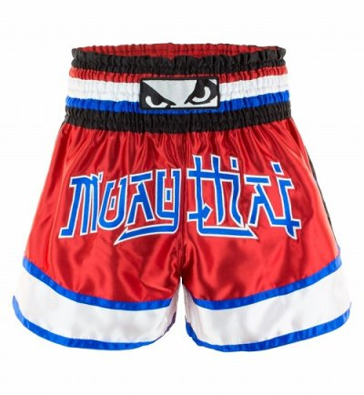 Photo1: BAD BOY Muay Thai Shorts KAO LOY Red/Blue/White  SALE