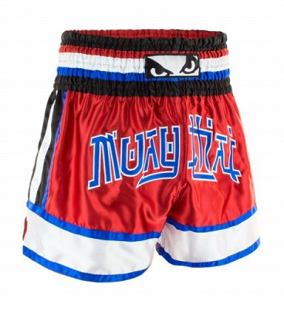 Photo3: BAD BOY Muay Thai Shorts KAO LOY Red/Blue/White  SALE