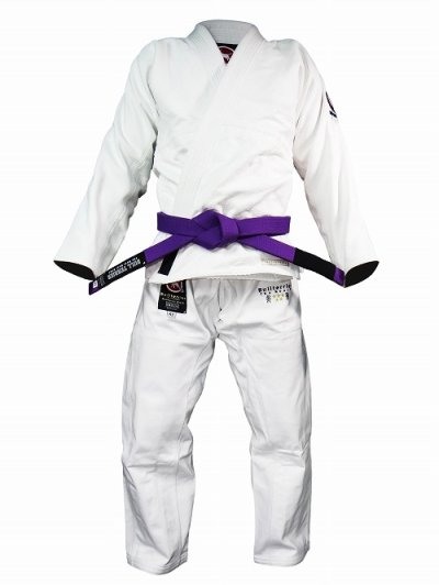 Photo1: BULL TERRIER Jiu Jitsu Gi MUJD White