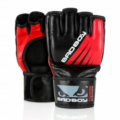 Photo1: BAD BOY MMA Glove Training Series Impact Without Thumb Black/Red  SALE