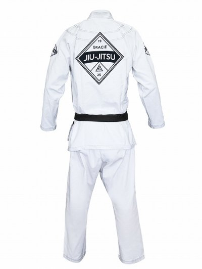 Photo2: Gracie Jiu Jitsu Gi DIAMONDBACK White