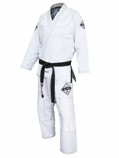 Photo1: Gracie Jiu Jitsu Gi DIAMONDBACK White