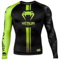 VENUM Rashguard LOGOS Long Sleeve Black/Fluorescent Yellow