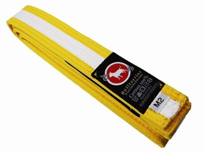 Photo1: BULLTERRIER Jiu Jitsu Belt 2.0 Yellow/White