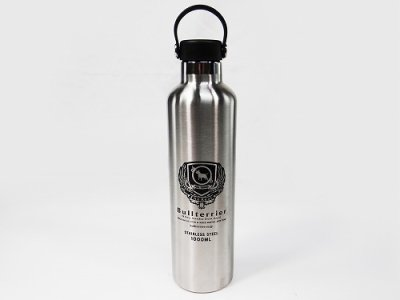 Photo1: BULL TERRIER Stainless Water Bottle 1000ML