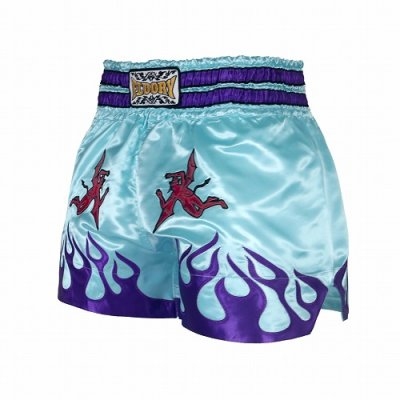 Photo2: FLUORY Muay Thai Shorts MTSF39 Skyblue