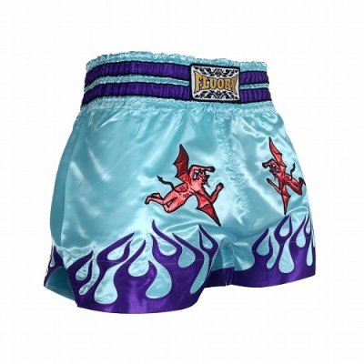Photo1: FLUORY Muay Thai Shorts MTSF39 Skyblue