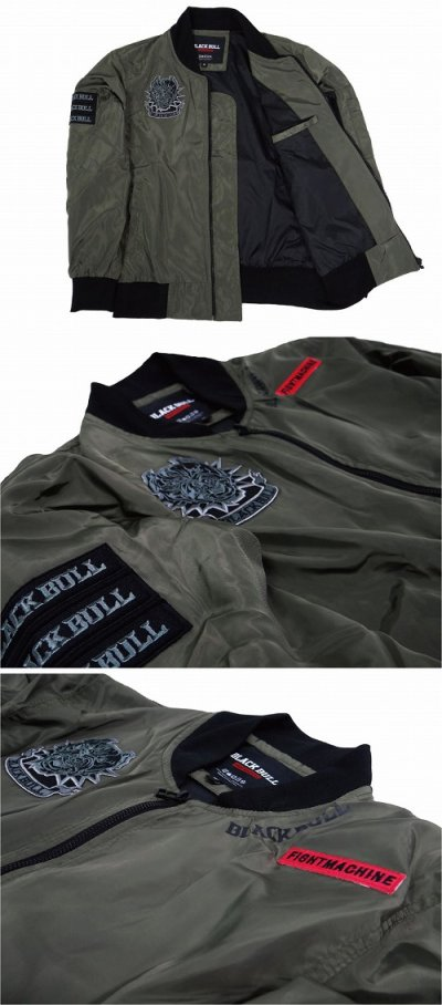 Photo4: BLACK BULL Light Jacket MILITARY Green