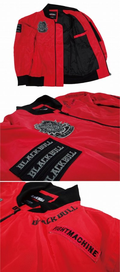 Photo4: BLACK BULL Light Jacket MILITARY Red