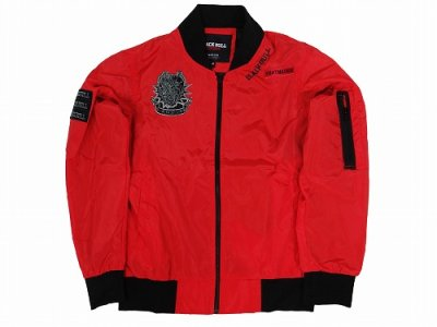 Photo2: BLACK BULL Light Jacket MILITARY Red