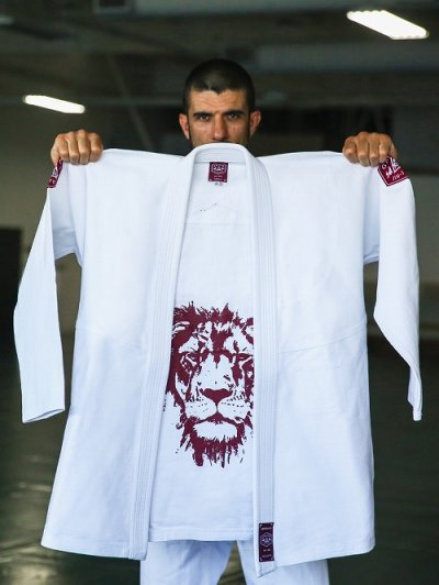 Photo4: Gracie Jiu Jitsu Gi LION White