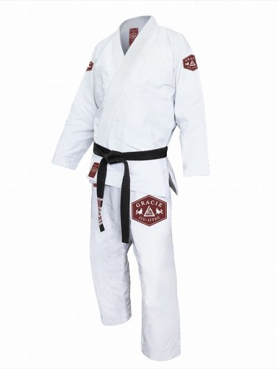 Photo1: Gracie Jiu Jitsu Gi LION White