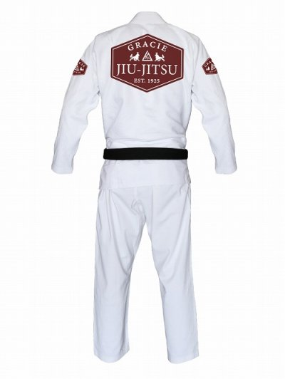 Photo2: Gracie Jiu Jitsu Gi LION White