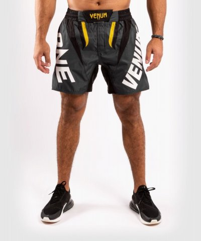Photo1: VENUM Fight Shorts ONE FC IMPACT Gray/Yellow