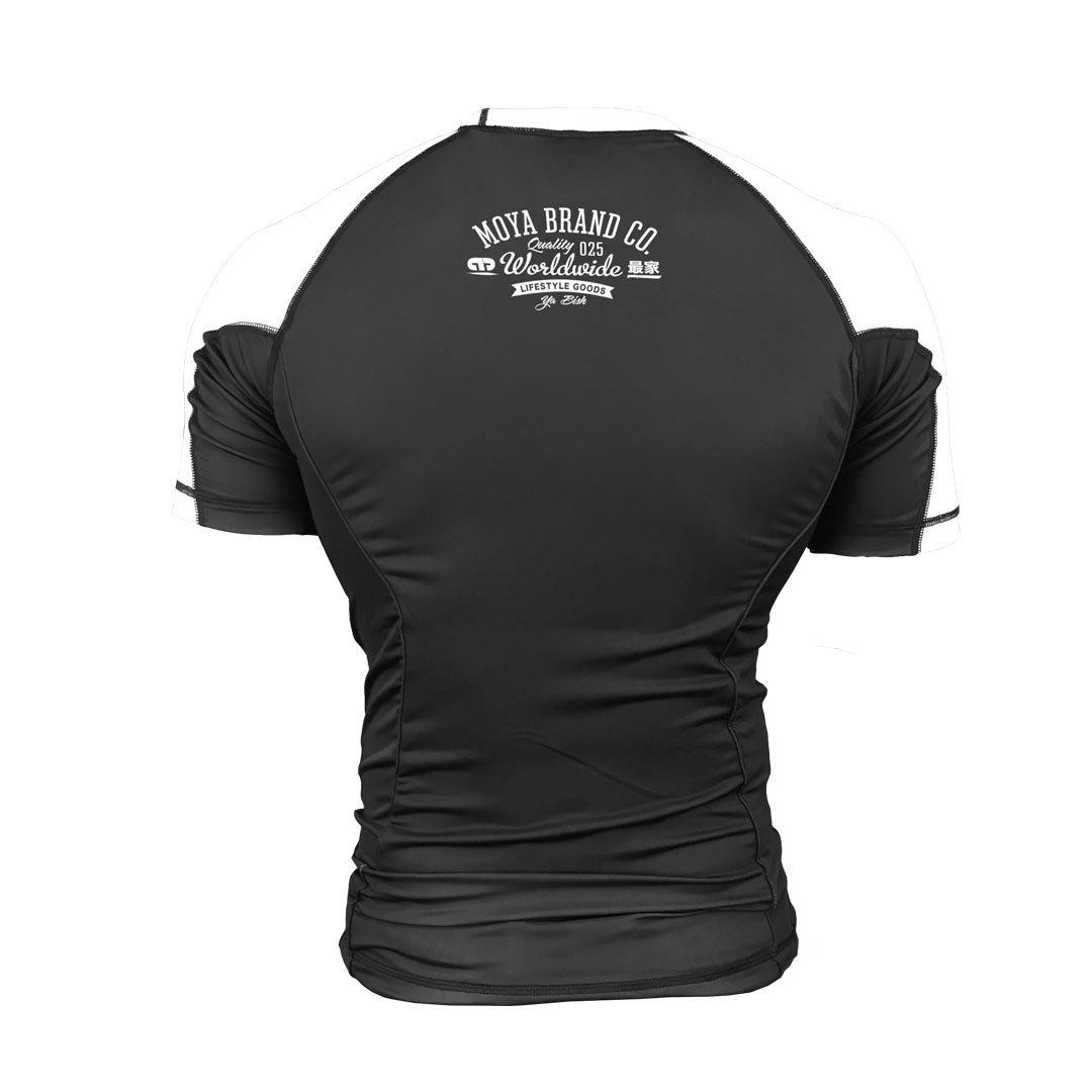 3b1a1b39a0 MOYA BRAND Rash Guard SCUDERIA3 Short Sleeve Black/White.