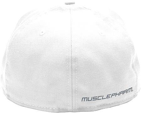 MusclePharm Flatbrim Hardcore Hat White