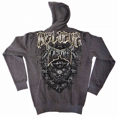 TAPOUT Zipped Hoodie Agent Shield Charcoal - Fighters Shop Bull Terrier b45207ae1f78f