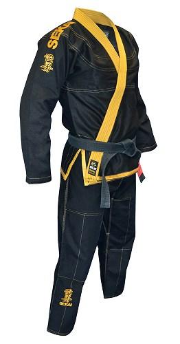 FUJI Jiu Jitsu Gi Sekai Brasil Edition Black / Yellow - Fighters